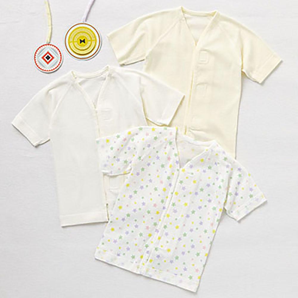 Combimini 純棉肚衣 (黏貼式 ) 星星3件組 60-70