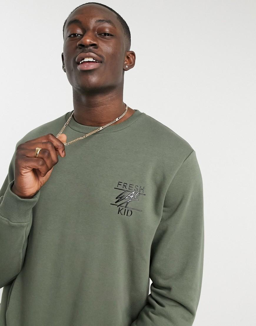 Fresh ego kid logo sweatshirt in green