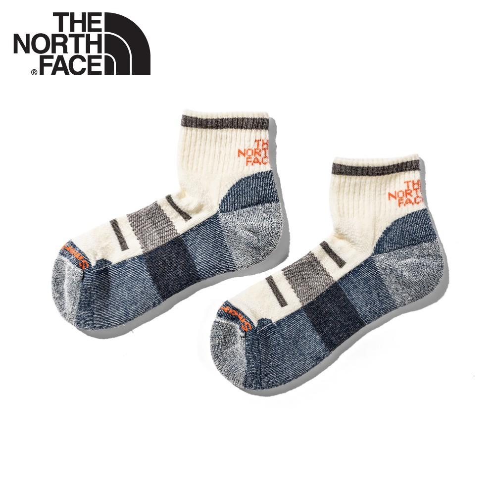 【The North Face 輕量健行羊毛襪《藍白》】3CNO/美麗諾羊毛襪子/吸濕透氣/耐磨/短襪/襪子/跑步