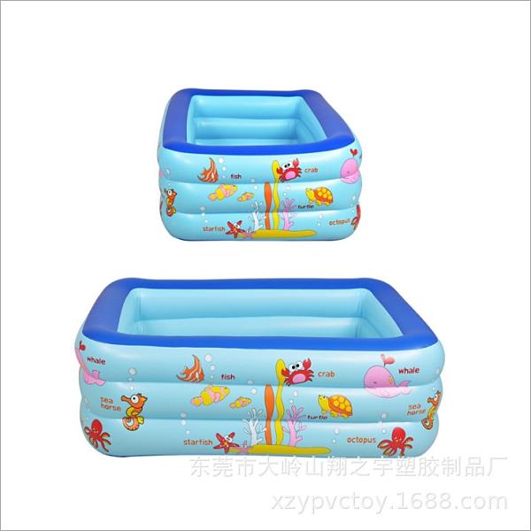 泳池 跨境亞馬遜PVC游泳池戶外兒童嬰兒戲水池方形充氣泳池游泳用品