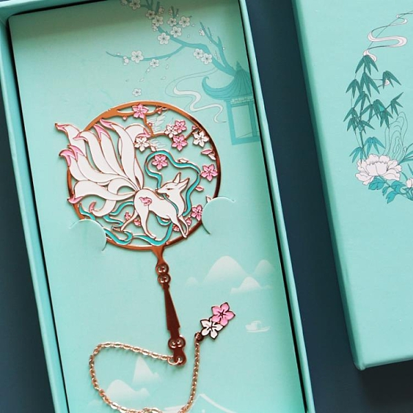 金屬書簽古典中國風黃銅扇形團扇書簽簡約文藝 pinkq 時尚女裝
