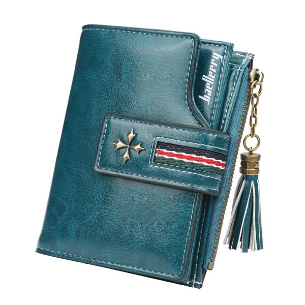 個性簡約女士錢包流蘇拉鏈 時尚女士短款錢包零錢包 女士短款錢夾皮夾 女士短款錢包 女生短夾