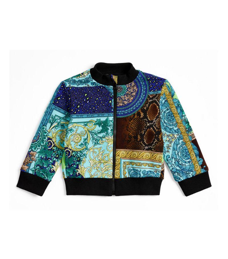 Versace Kids Baroque Patchwork Bomber Jacket (6-36 Months)