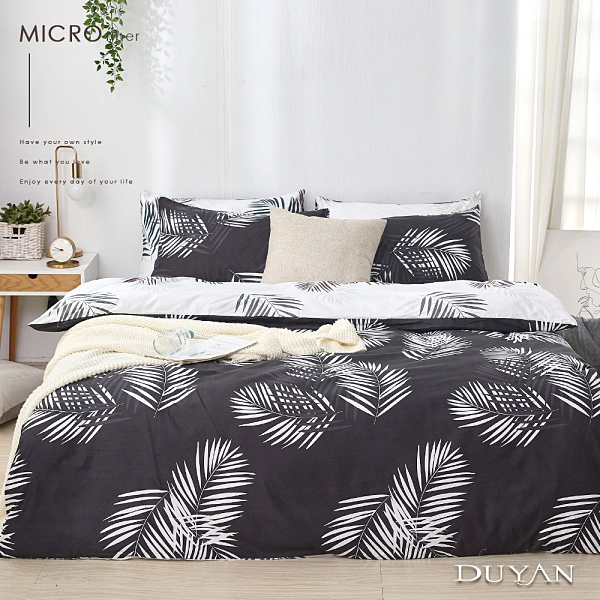 《DUYAN竹漾》舒柔棉雙人床包三件組-夜語森林