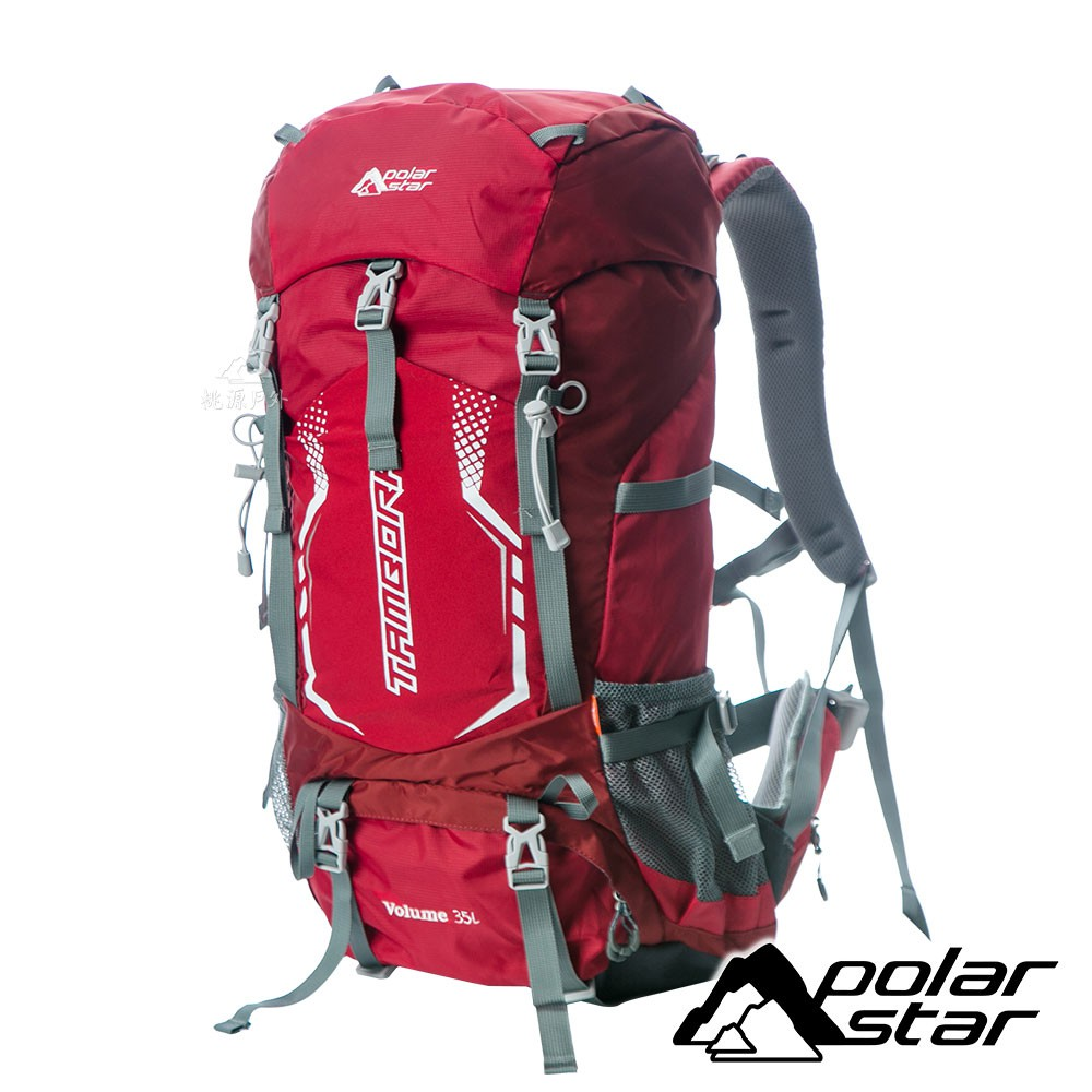 【PolarStar】透氣網架背包35L『紅』P18711