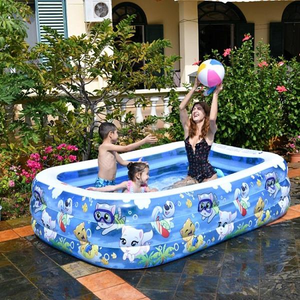 泳池 吉龍游泳池充氣泳池嬰兒成人家用戲水池加厚耐磨海洋球兒童游泳池