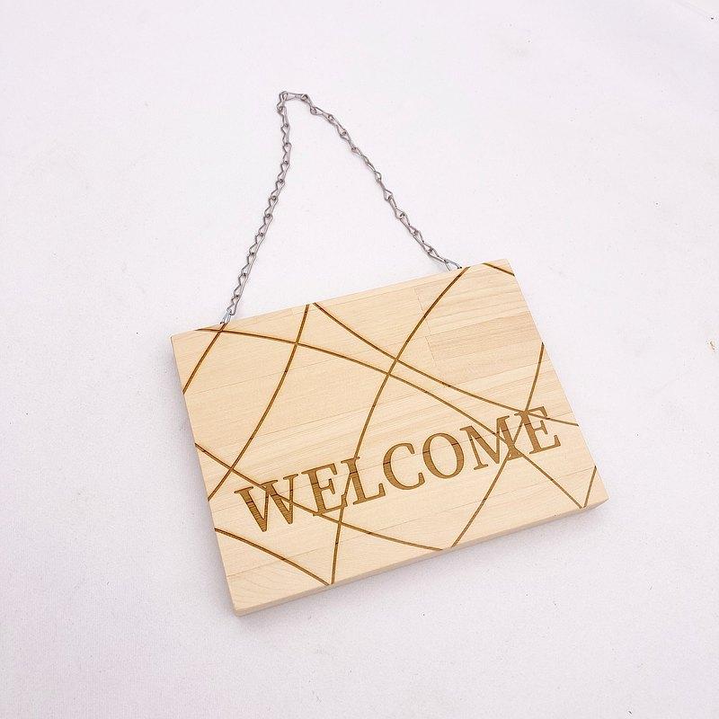 歡迎光臨吊牌 營業中吊牌標示牌 歡迎光臨標示牌 營業中木牌