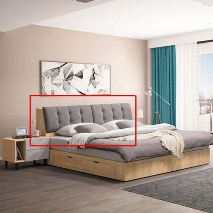 新精品ce-b33-02 莫琳5尺床頭 附安全插座 亞麻布靠枕  滿三千搭車免運