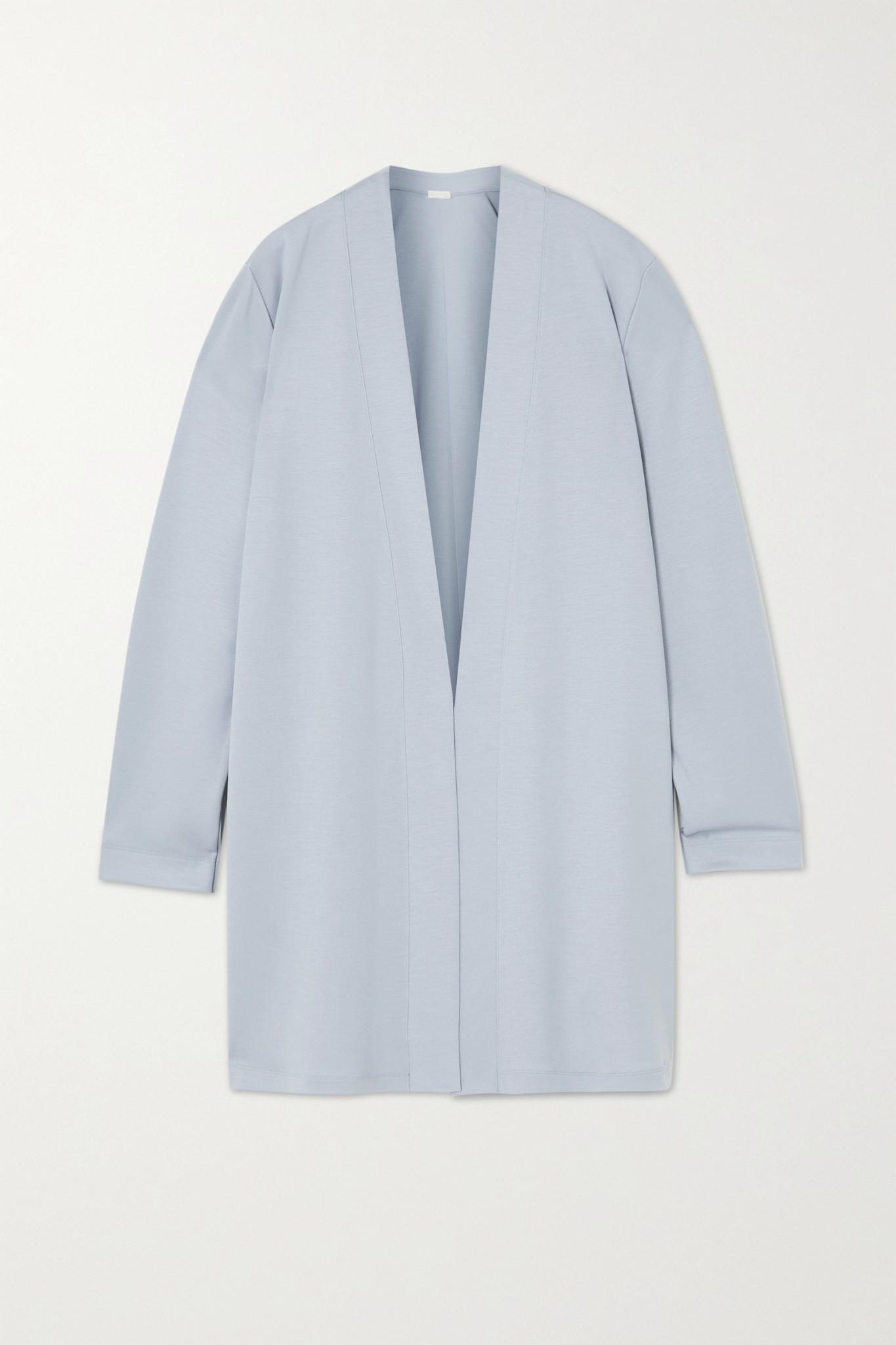 HANRO - Pure Comfort 天丝莱赛尔纤维混纺开襟衫 - 灰色 - small