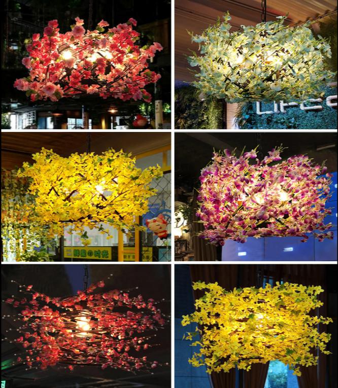 燈 燈具 60cm 復古燈具 植物吊燈 個性創意工業風火鍋店酒吧餐吧店鋪商用裝飾燈具網紅燈飾110v