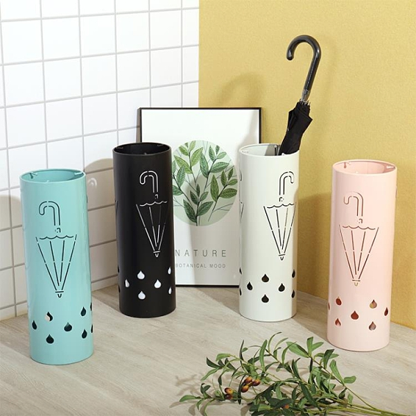 北歐創意雨傘家用收納神器落地雨傘架商用傘桶門口瀝水架【白嶼家居】
