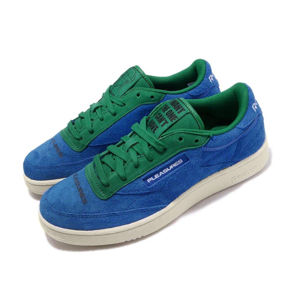 REEBOK 休閒鞋 Club C 85 低筒 穿搭 男鞋 基本款 簡約 麂皮 質感 球鞋 藍 綠 [DV9908]