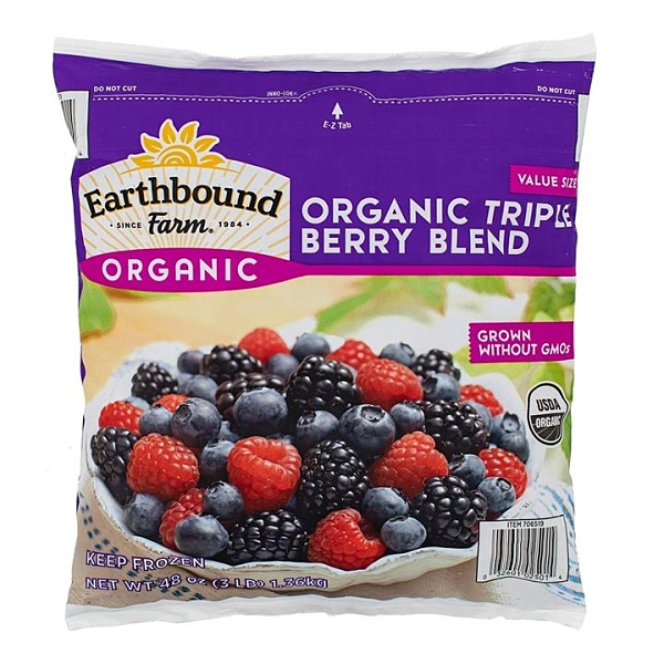 Earthbound Farm 冷凍有機三種綜合莓 1.36公斤 (2包裝)