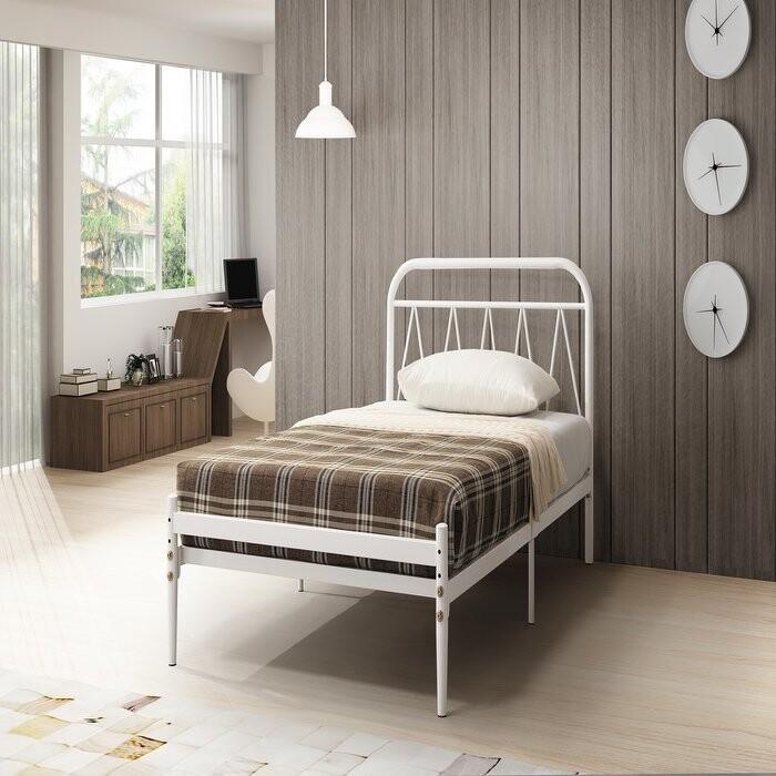新精品ce-b180-04(f209白)凱伊白色3.5尺床台 (不含床墊及其他商品) 台北到高雄