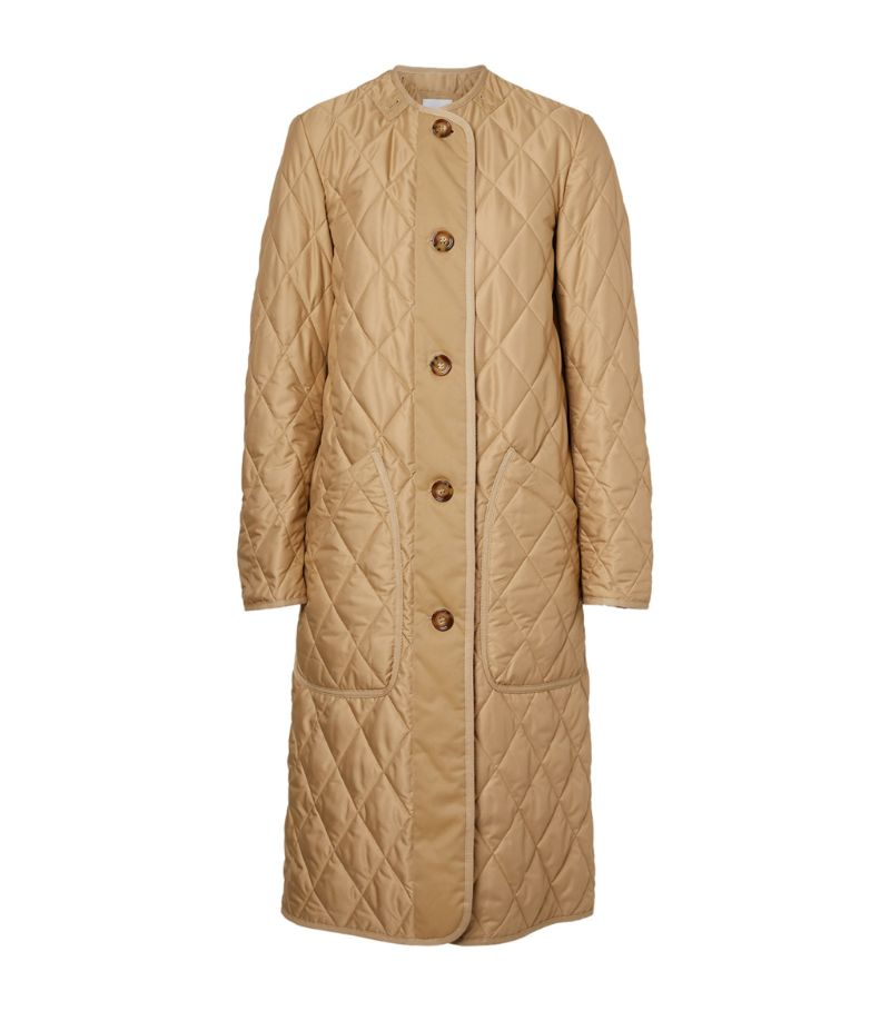 Burberry Diamond-Quilted Coat