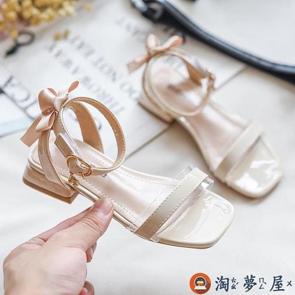 女童涼鞋款時尚韓版時裝鞋中大童高跟鞋兒童公主鞋潮【淘夢屋】
