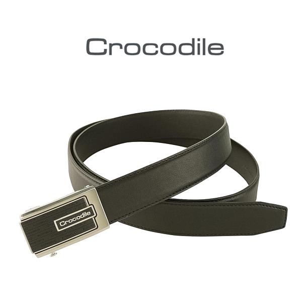 【寧寧精品】Crocodile 鱷魚專櫃鱷魚專櫃品牌【真皮可微調自動皮帶 經典黑】856-1