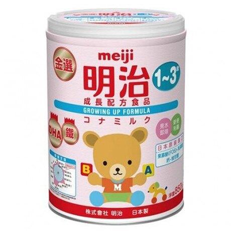 MEIJI 金選明治成長奶粉3號850g-箱購(8罐)(1-3歲)