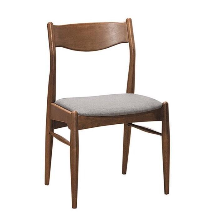 新精品ce-b451-02 莎莉淺胡桃灰布餐椅(單張) 台北到高雄 滿三千搭配車趟免運費