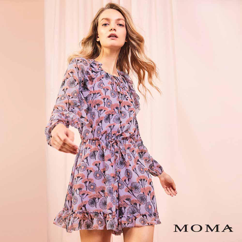 MOMA(01P079)植物印花連身短褲