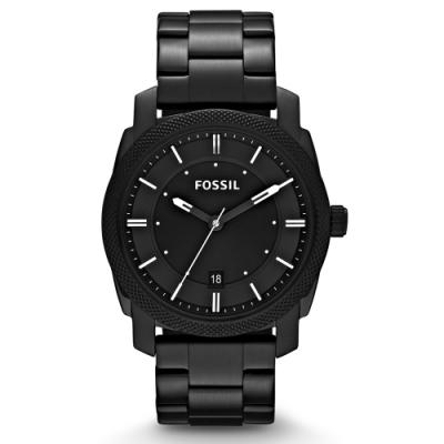 FOSSIL 悍王天下消光黑不鏽鋼腕錶(FS4775)-黑/42mm