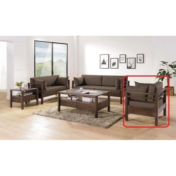 新精品ce-b210-01(c801單) 莫德淺胡桃全實木單人座(咖啡布) (圖二紅框不含其他)