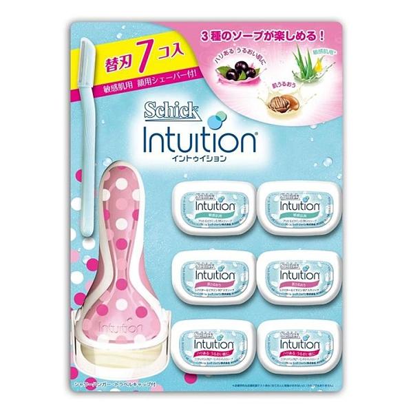Schick Intuition 舒適牌 舒芙仕女除毛刀 (1 刀把 + 7 刀頭)/組 (2包裝)
