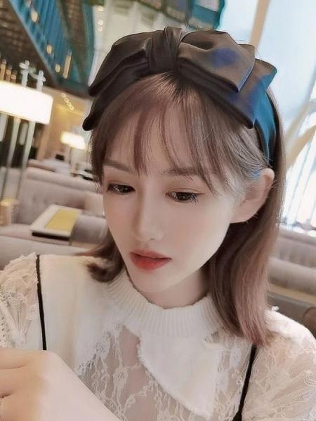 髮箍 小香風蝴蝶結寬邊髮箍女韓國網紅氣質髮卡簡約百搭外出髮飾頭箍 晶彩生活