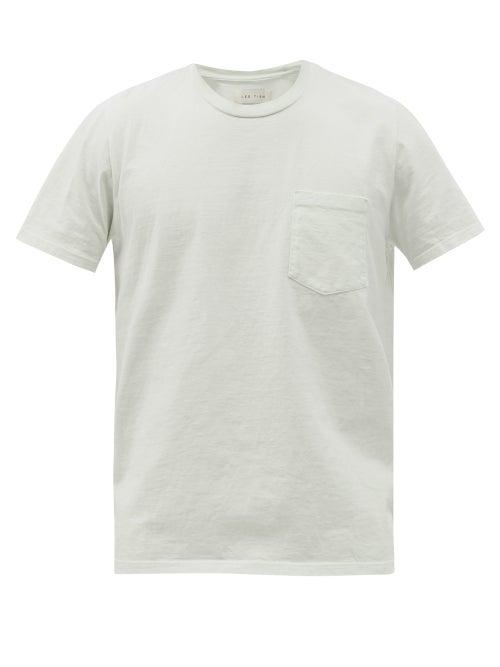 Les Tien - Classic Pocket Heavyweight Cotton-jersey T-shirt - Mens - Light Blue