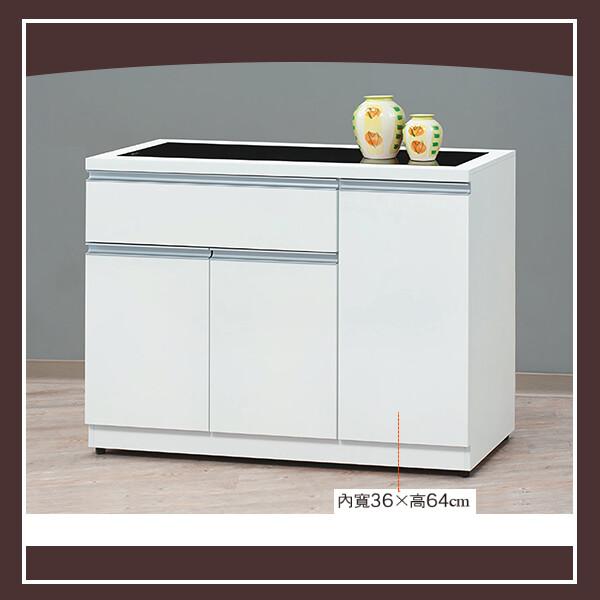貝拉白色3.8尺碗碟櫃(下座) 21058717005