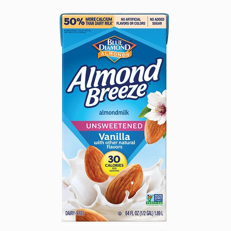 *美式賣場熱銷品牌 [BLUE DIAMOND] 杏仁奶 (946ml/瓶) 無加糖香草風味