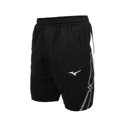 MIZUNO 男針織運動短褲-吸濕排汗 抗UV 慢跑 路跑 五分褲 美津濃 32TB100490 黑白