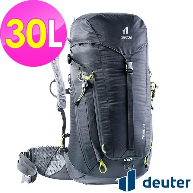 (登山屋) deuter 德國TRAIL輕量拔熱透氣背包/登山背包30L(3440521黑)