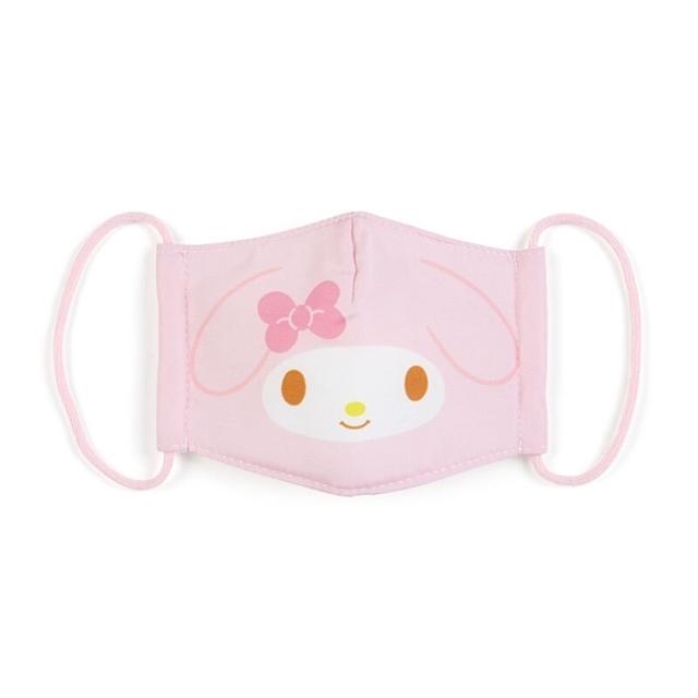 小禮堂 美樂蒂 兒童布口罩 平面口罩 純棉口罩 防塵口罩 可水洗 (粉 防疫對策)