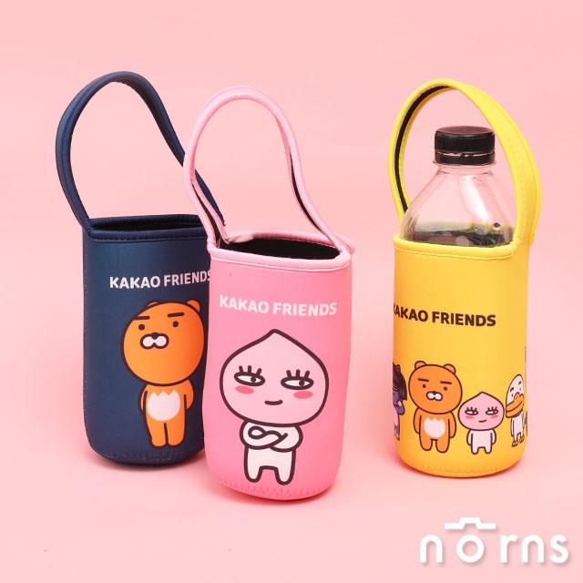 【Kakao Friends潛水布飲料袋】Norns 台灣正版授權 韓國Ryan萊恩 Apeach桃子 手提袋 杯套 水壺袋