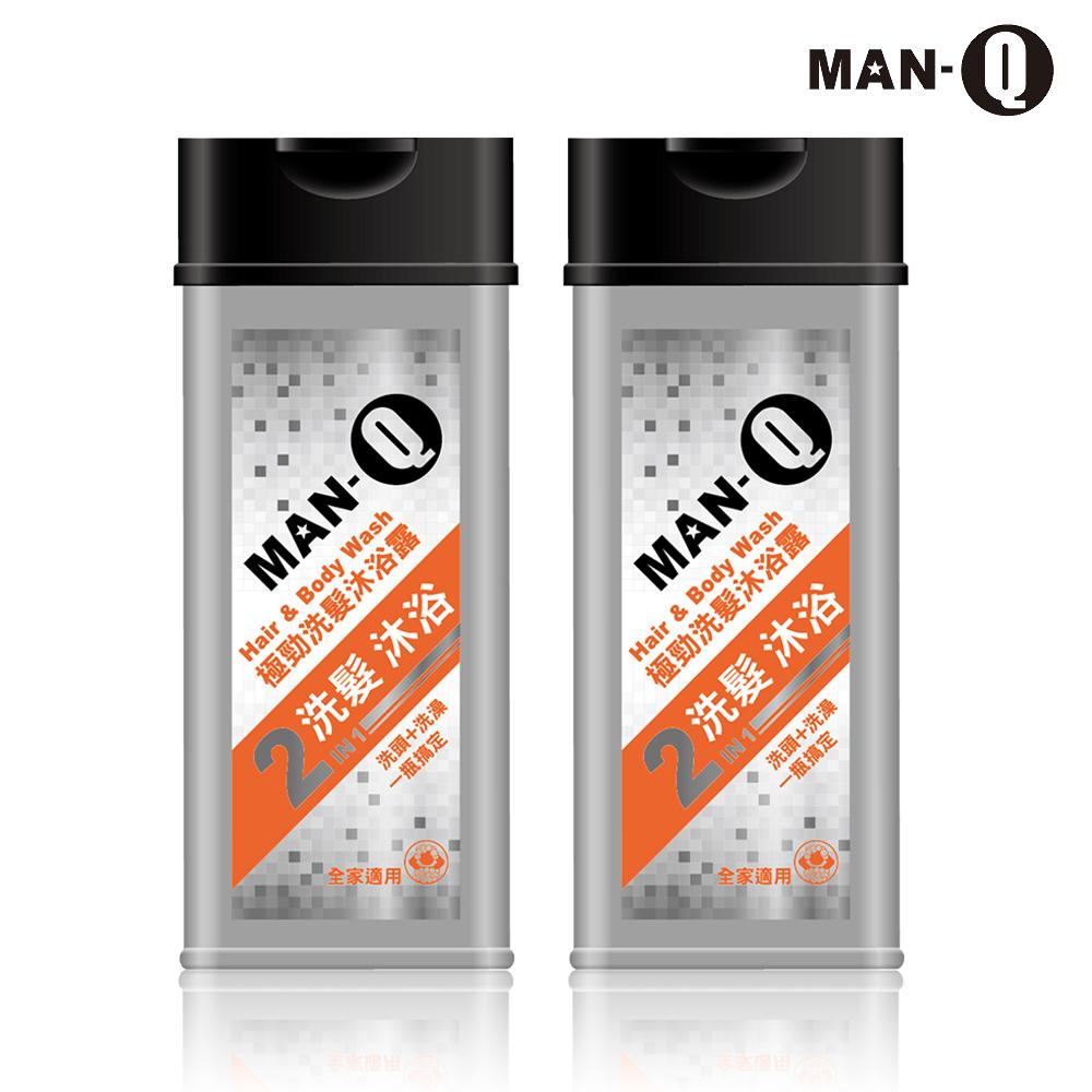 MAN-Q 2in1極勁洗髮沐浴露350mlX2