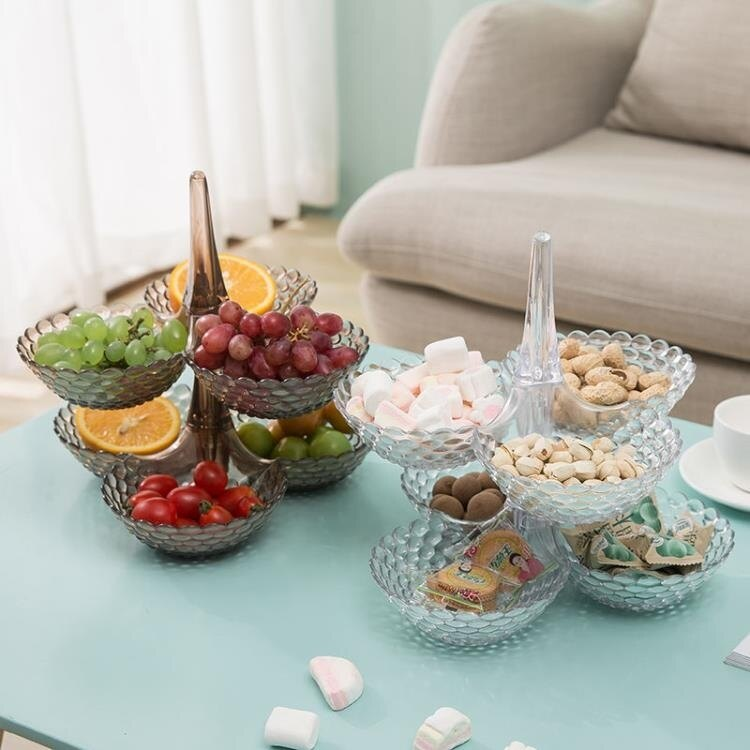 歐式多層可疊加水果盤家用客廳茶幾幹果【薇格嚴選】
