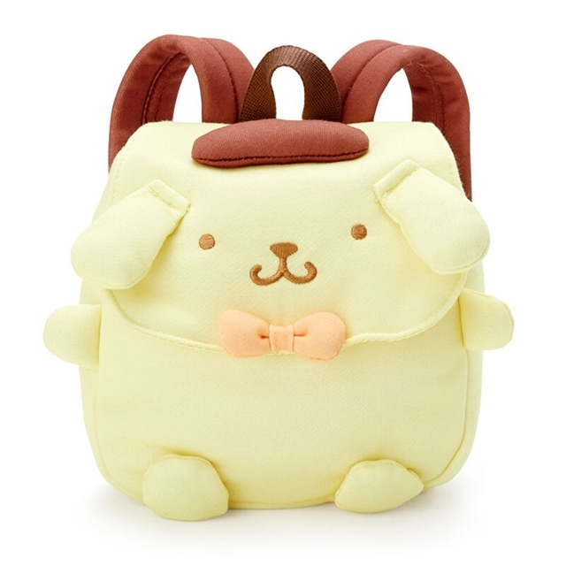 小禮堂 布丁狗 造型棉質後背包 兒童背包 掀蓋後背包 雙肩包 (黃 大臉)