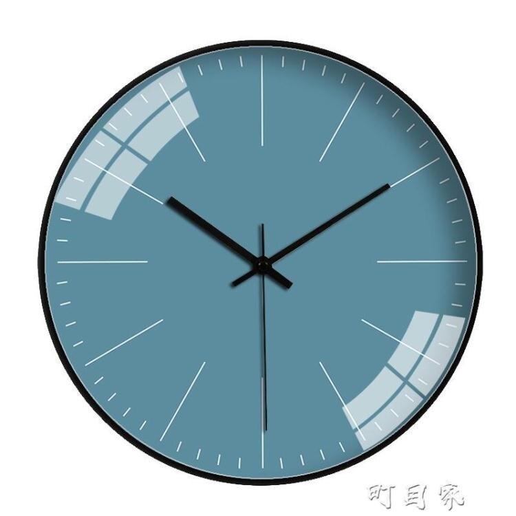 掛鐘客廳臥室現代簡約個性創意時尚純色時鐘靜音石英鐘錶掛錶家用
