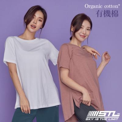 STL Yoga 韓國 Organic有機棉 Overfit SS 長版短袖寬版T恤 微透白White