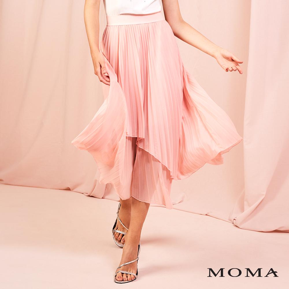 MOMA(01S069)造型壓褶長裙-剩餘40號