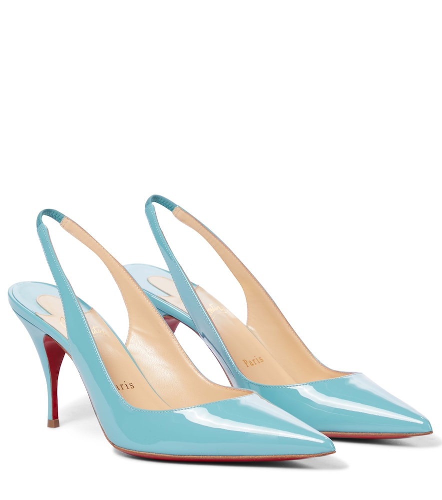 Clare Sling 80 patent leather pumps