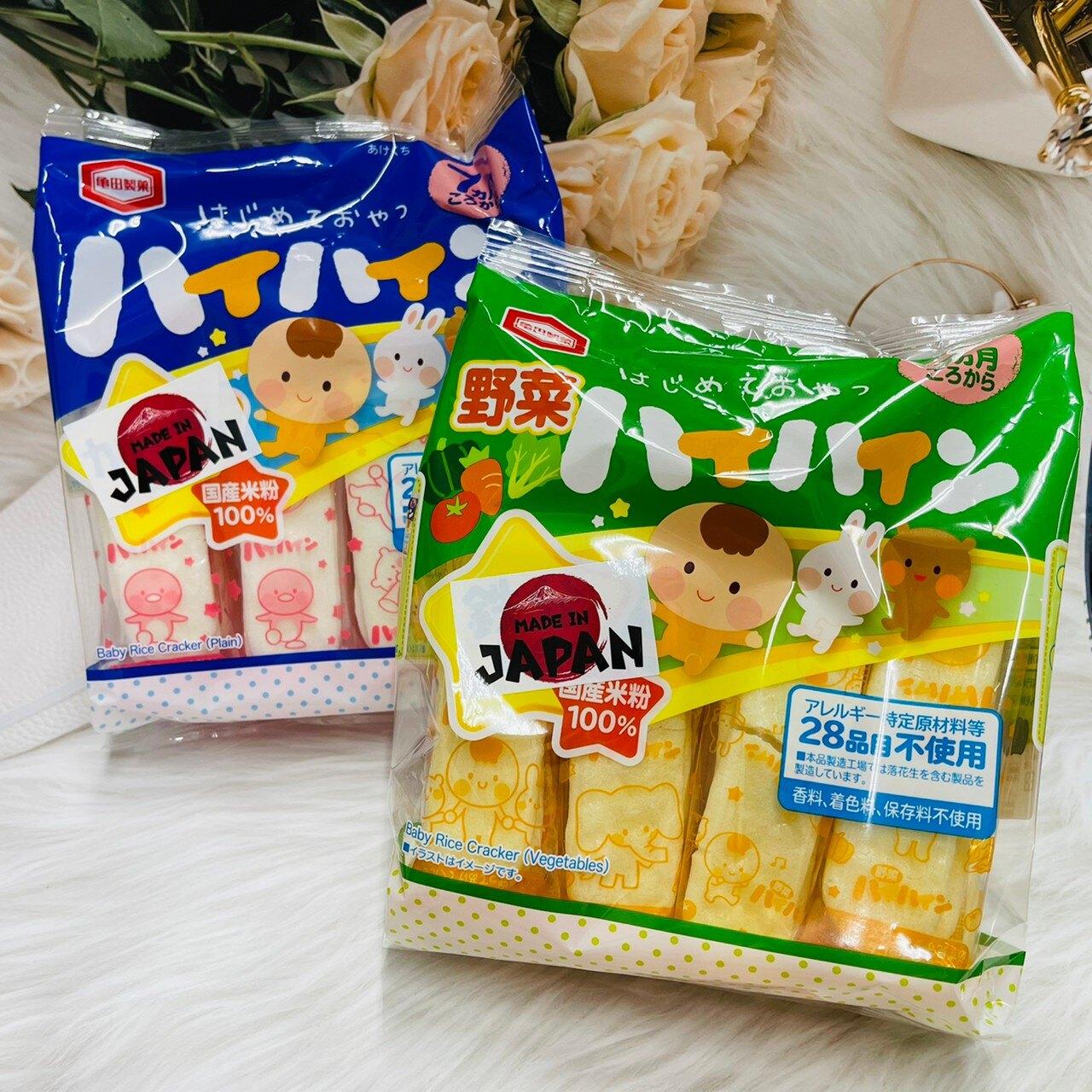 日本 龜田製果 嬰兒米果 嬰兒米餅 七個月大起可食用 53g  原味/野菜