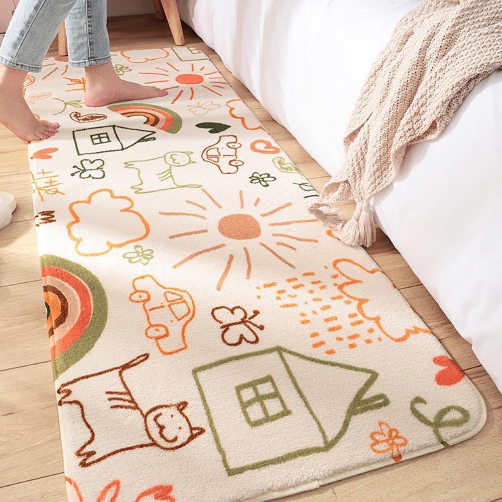 長型插畫地墊(兩款可選) 約40X120cm±1cm【棉床本舖】