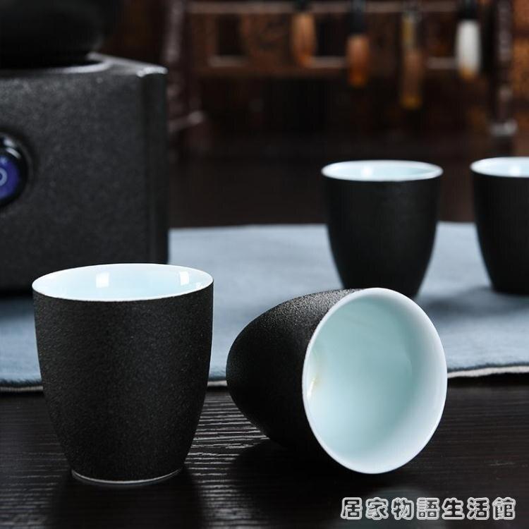 中式煮茶電陶爐煮酒器電溫酒器加熱燙酒壺家用白黃酒杯酒具套裝 走心小賣場快速出貨