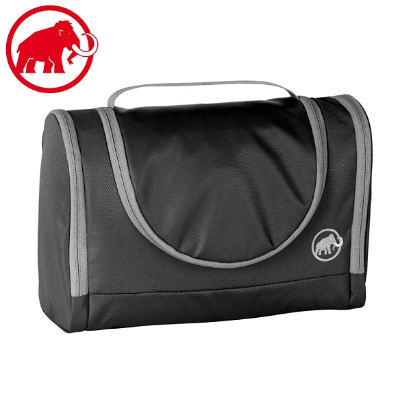 【MAMMUT 瑞士 Washbag Roomy可掛式旅行盥洗包《黑》】2520-00530/洗漱包/化妝包/打理包