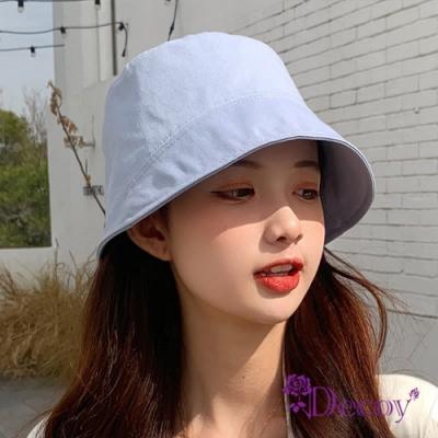 Decoy 純色字母 日韓防曬遮陽漁夫盆帽 2色可選