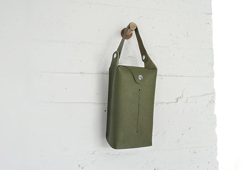 紳士衛生紙盒 | 車用款 | 橄欖綠