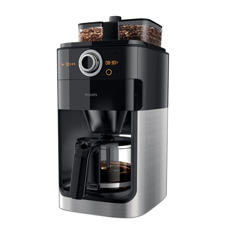 Grind & Brew 雙豆槽2+全自動咖啡機 (HD7762/00)