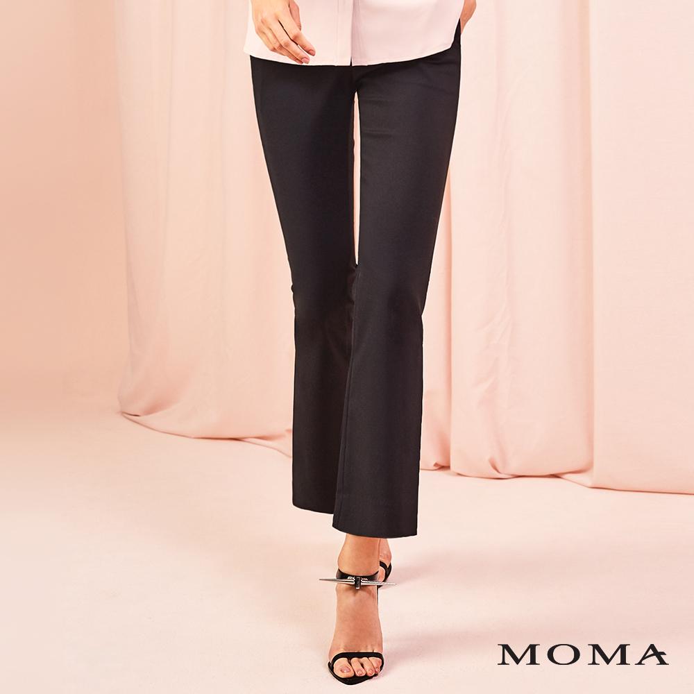 MOMA(01P095)側邊開衩喇叭褲